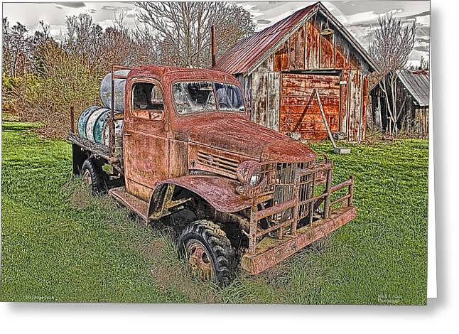 Coin Pictures Greeting Cards - 1941 Dodge Truck #2 Greeting Card by Mark Allen