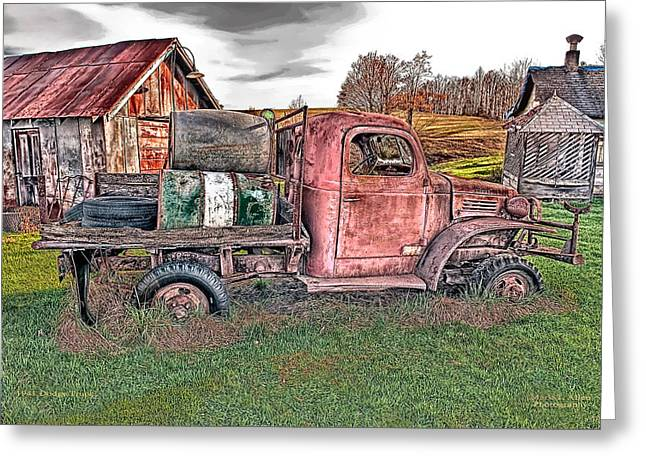 River Rafting Art Print Greeting Cards - 1941 Dodge Truck Greeting Card by Mark Allen