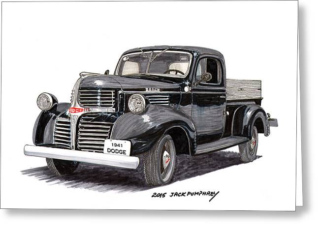 1934 Dodge Greeting Cards - 1941 Dodge W C half ton Pick up Greeting Card by Jack Pumphrey