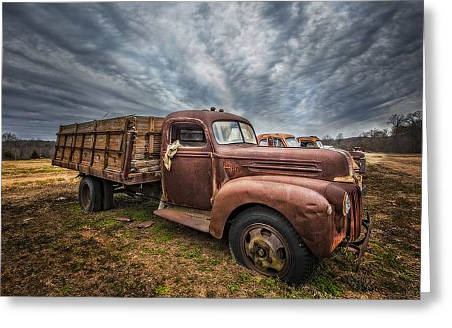 1942 Old Ford Truck Greeting Card by Debra and Dave Vanderlaan