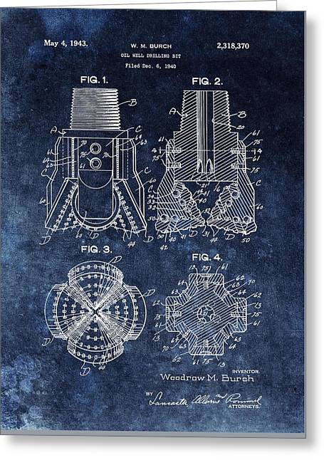 Rotate Greeting Cards - 1943 Oil Drill Bit Patent Greeting Card by Dan Sproul