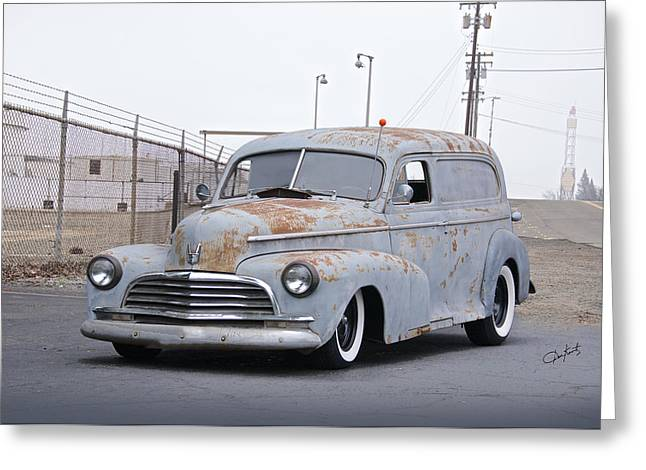 Slam Greeting Cards - 1946 Chevrolet Sedan Delivery II Greeting Card by Dave Koontz