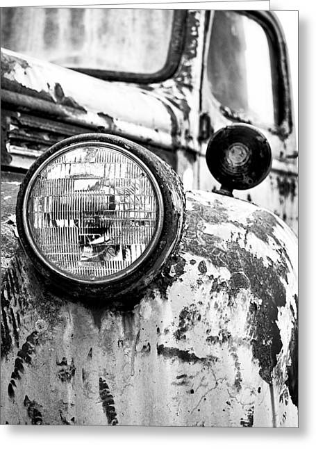 1946 Chevy Work Truck - Headlight Detail Greeting Card by Jon Woodhams