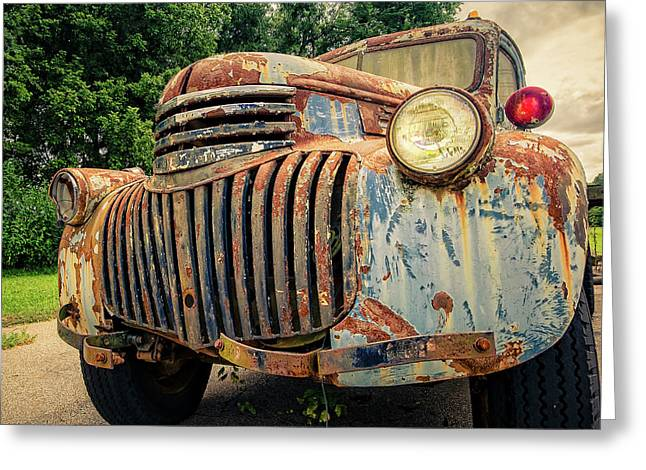1946 Chevy Work Truck Greeting Card by Jon Woodhams