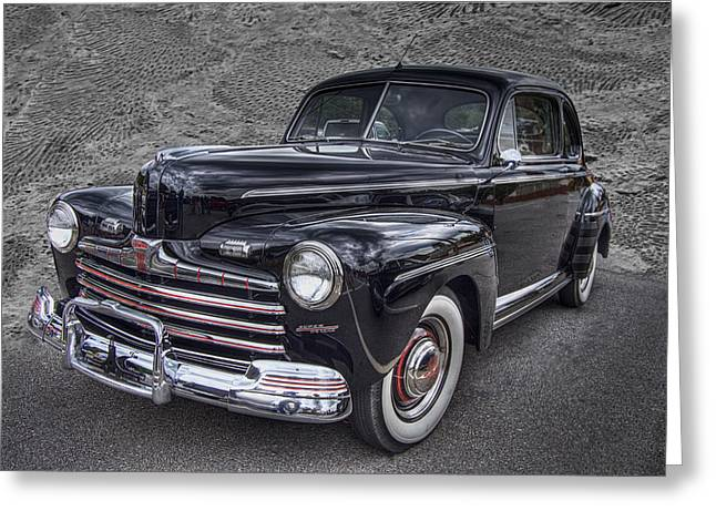 Smokey Mountains Greeting Cards - 1946 Ford Greeting Card by Debra and Dave Vanderlaan