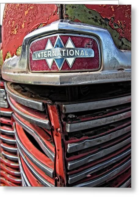 1946 International Harvester Truck Grill Greeting Card by Daniel Hagerman
