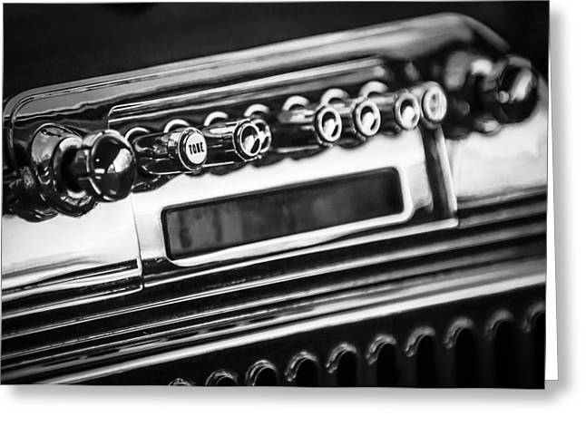 1947 Cadillac Greeting Cards - 1947 Cadillac Model 62 Coupe Radio -440bw Greeting Card by Jill Reger