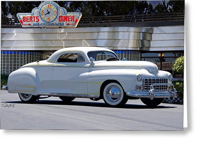 Slam Greeting Cards - 1947 Dodge Retro Custom Coupe Greeting Card by Dave Koontz