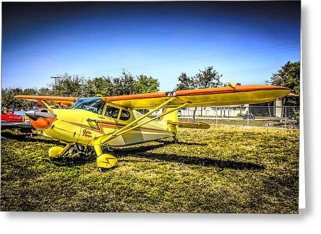 Civil Aviation Greeting Cards - 1947 Yellow Stinson Greeting Card by Chris Smith