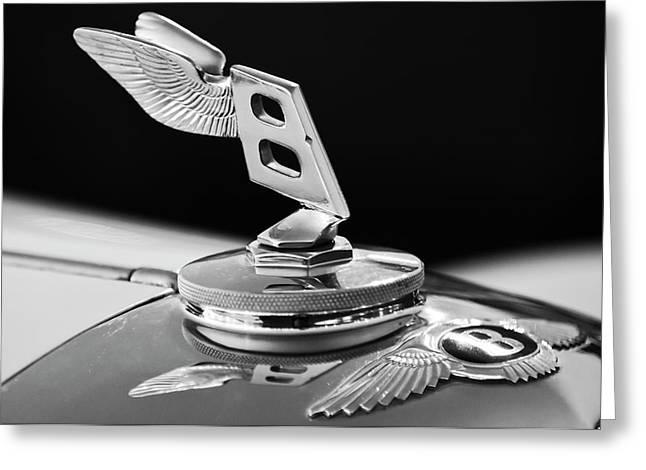 Car Mascot Greeting Cards - 1948 Bentley Hood Ornament 3 Greeting Card by Jill Reger