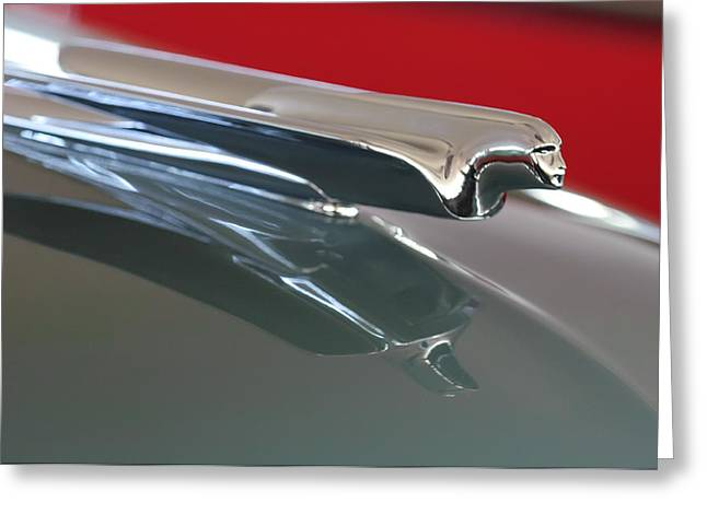 1948 Cadillac Series 62 Hood Ornament Greeting Card by Jill Reger