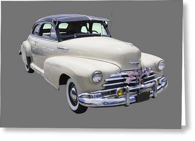 Fleetmaster Greeting Cards - 1948 Chevrolet Fleetmaster Antique Car Greeting Card by Keith Webber Jr