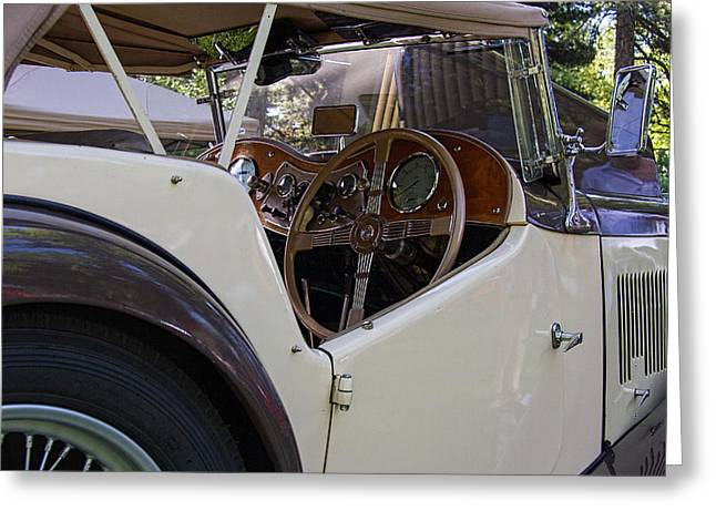 Steering Greeting Cards - 1948 Mg Tc  Greeting Card by Nick Gray