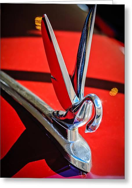 Hoodies Greeting Cards - 1948 Packard Hood Ornament 2 Greeting Card by Jill Reger