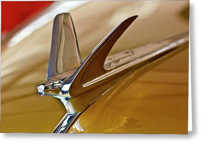 Hoodies Greeting Cards - 1949 Chevrolet Fleetline Hood Ornament Greeting Card by Jill Reger