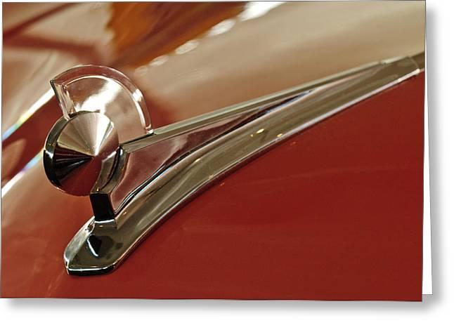 Car Mascots Greeting Cards - 1949 Ford Custom Hood Ornament Greeting Card by Jill Reger