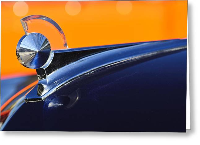 Hoodies Greeting Cards - 1949 Ford Hood Ornament 5 Greeting Card by Jill Reger