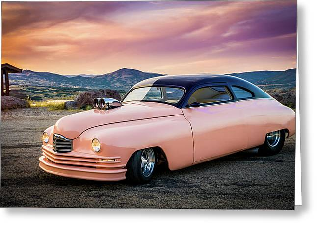 1949 Packard On Top Of The World Greeting Card by TL Mair
