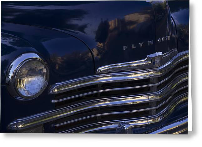 1949 Plymouth Greeting Cards - 1949 Plymouth Deluxe  Greeting Card by Cathy Anderson