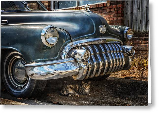 Classic Cats Greeting Cards - 1950 Buick Dynaflow Greeting Card by Debra and Dave Vanderlaan
