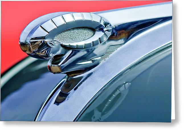Car Mascot Greeting Cards - 1950 Dodge Coronet Hood Ornament Greeting Card by Jill Reger