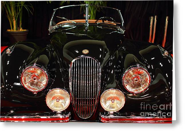 1950 Jaguar XK120 Alloy Roadster . 7D9179 Greeting Card by Wingsdomain Art and Photography