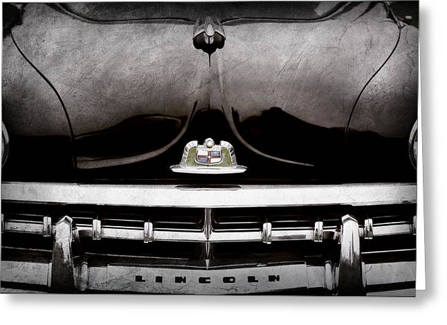1950 Lincoln Cosmopolitan Henney Limousine Grille Emblem - Hood Ornament -0464ac Greeting Card by Jill Reger
