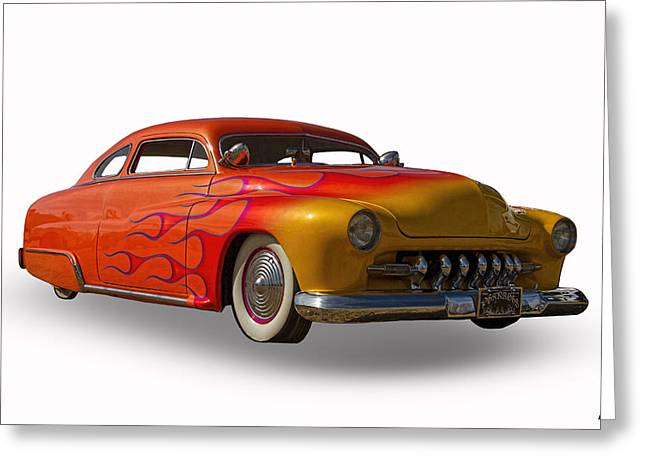1950 Merc Greeting Cards - 1950 Mercury Coupe Greeting Card by Nick Gray