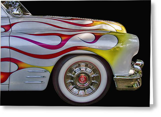 Historic Home Greeting Cards - 1950 Mercury Flames Greeting Card by Nick Gray