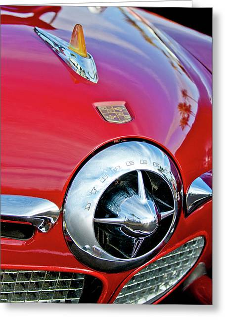 Car Mascot Greeting Cards - 1950 Studebaker Champion Hood Ornament Greeting Card by Jill Reger