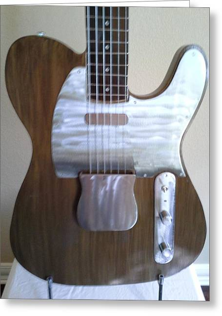 Steel Sculptures Greeting Cards - 1950 Telecaster Greeting Card by Jay Schaan