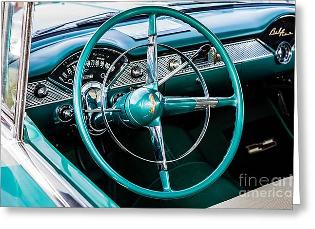 Greeting Card featuring the photograph 1955 Chevrolet Bel Air by M G Whittingham