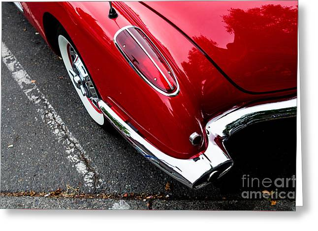 Greeting Card featuring the photograph 1959 Corvette by M G Whittingham