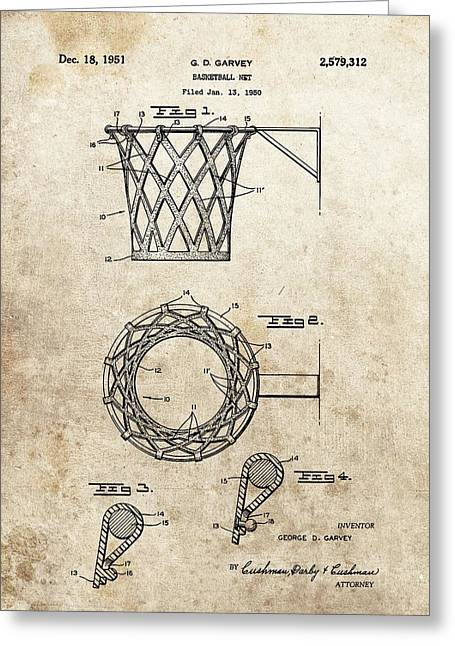 1951 Basketball Net Patent Greeting Card by Dan Sproul