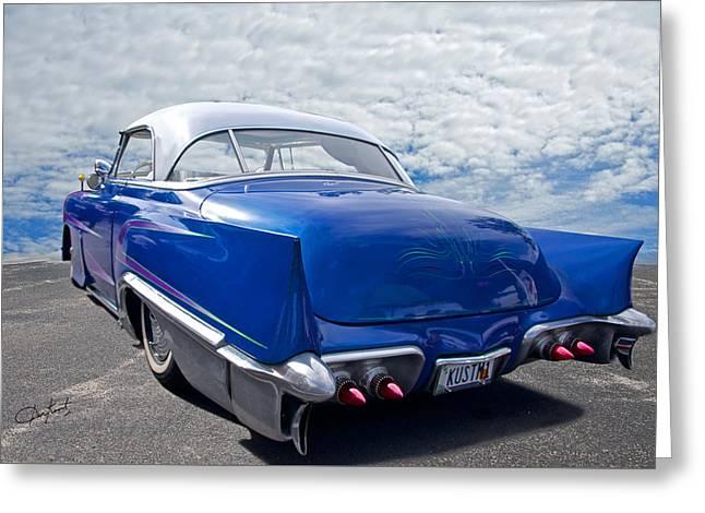 Slam Greeting Cards - 1951 Chevrolet Custom Bel Air II Greeting Card by Dave Koontz