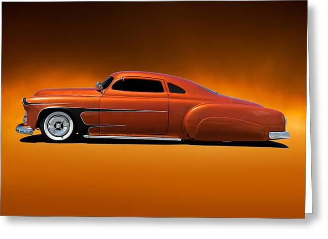 Slam Greeting Cards - 1951 Chevrolet Fifties Style Kustom Greeting Card by Dave Koontz