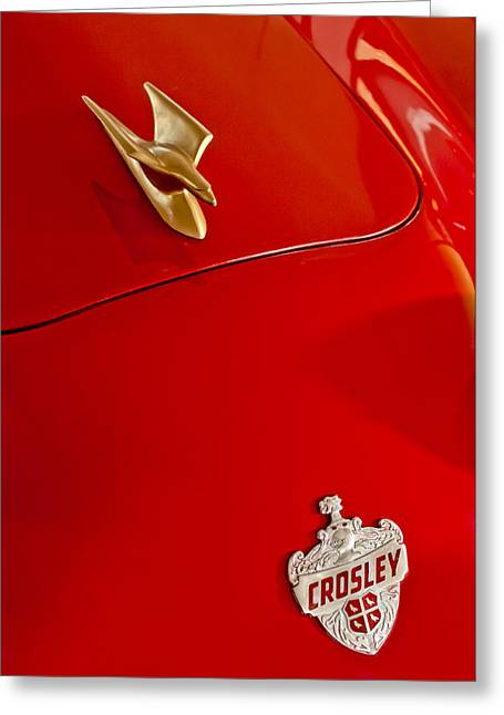 1951 Crosley Hot Shot Hood Ornament Greeting Card by Jill Reger