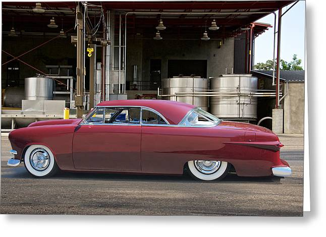 Slam Greeting Cards - 1951 Ford Victoria Wine Country Custom Greeting Card by Dave Koontz