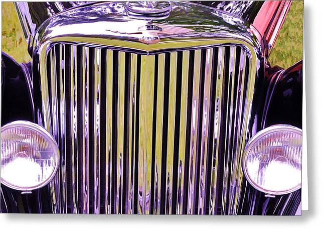 Collector Hood Ornament Greeting Cards - 1951 Jaguar Mark V D H C Greeting Card by Allen Beatty