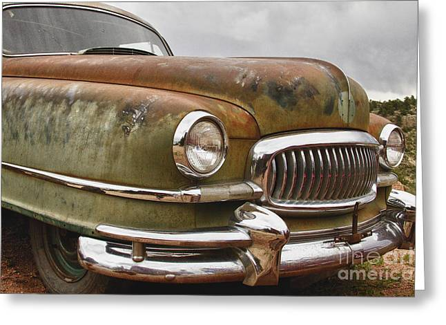 1951 Greeting Cards - 1951 Nash Ambassador Hydramatic Front End Greeting Card by James BO  Insogna
