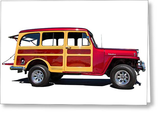 Cabelas Greeting Cards - 1951 Willys Jeep Wagon Greeting Card by Nick Gray