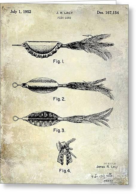 Naples Greeting Cards - 1952 Fishing Lure Patent  Greeting Card by Jon Neidert