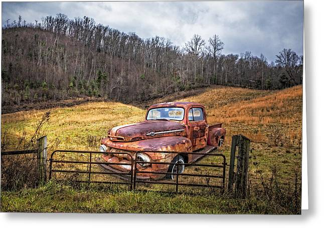 Tennessee Farm Greeting Cards - 1952 Ford V8 Truck Greeting Card by Debra and Dave Vanderlaan