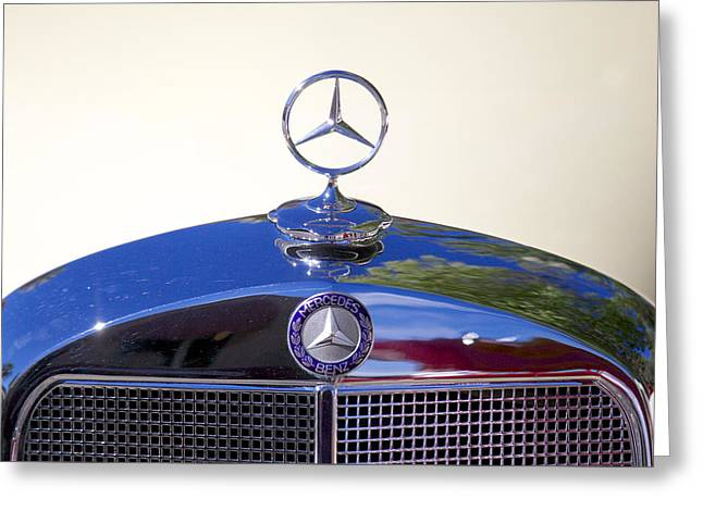 Collector Hood Ornament Greeting Cards - 1952 Mercedes-Benz 200 Greeting Card by Brooke Roby