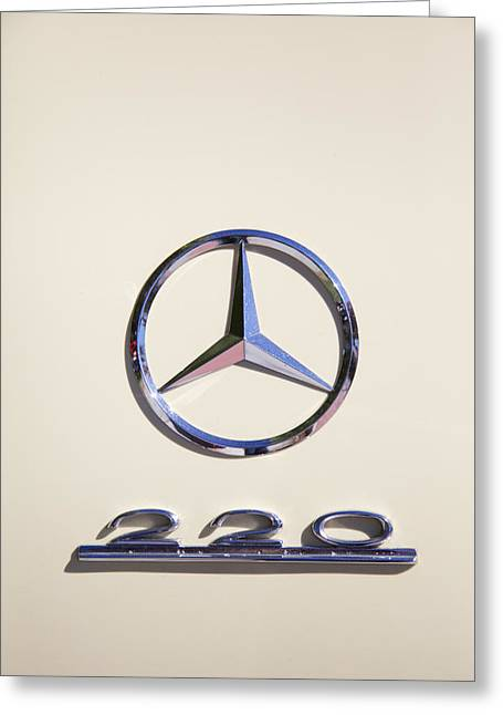 Collector Hood Ornament Greeting Cards - 1952 Mercedes-Benz Hood Ornament Greeting Card by Brooke Roby
