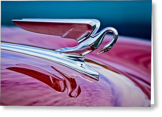 Famous Photographers Greeting Cards - 1952 Packard 400 Hood Ornament Greeting Card by Jill Reger