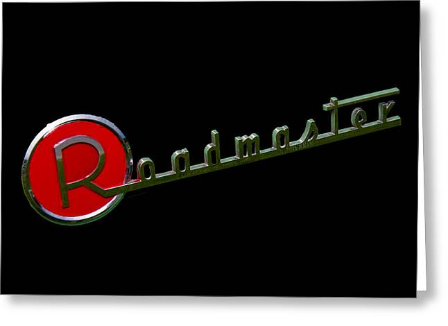 Collector Hood Ornament Greeting Cards - 1954 Buick Roadmaster Emblem Greeting Card by Nick Gray