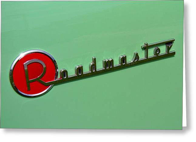 Collector Hood Ornament Greeting Cards - 1954 Buick Roadmaster Logo Greeting Card by Nick Gray