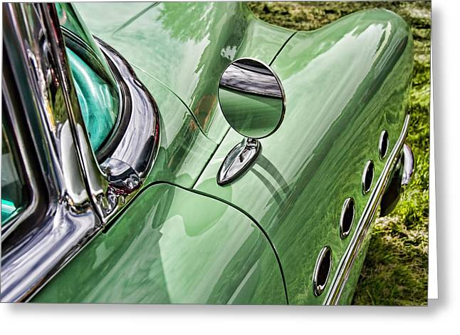 Collector Hood Ornament Greeting Cards - 1954 Buick Roadmaster Greeting Card by Nick Gray