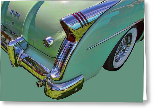 Collector Hood Ornament Greeting Cards - 1954 Buick Skylark Greeting Card by Nick Gray